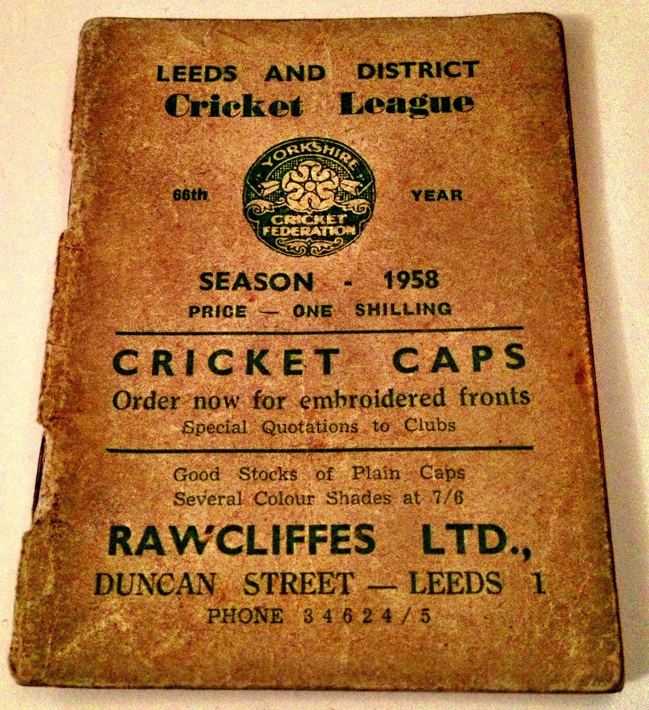League Handbook 1958