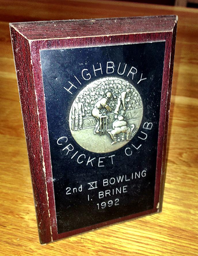 Ian Brine 2nd XI Bowling Prize 1992