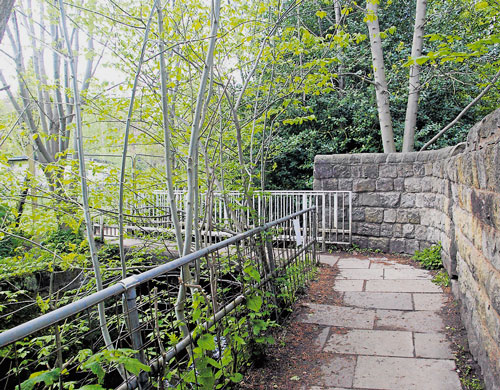 Bridge to Meanwood Park, 16th May 2013